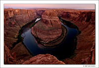 Horseshoe Bend Twilight, Page, Arizona, 2007