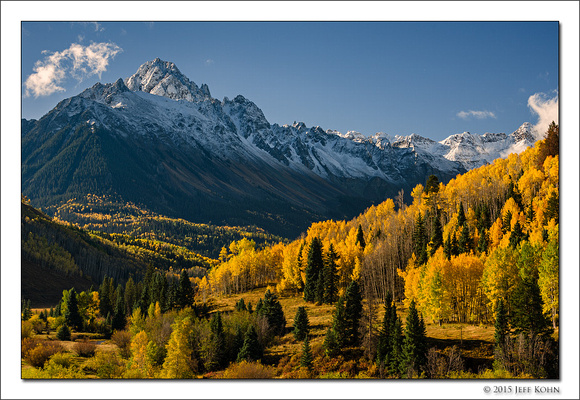 Aspen Beneath Mount Sneffels, Mount Sneffels Wilderness, Colorad
