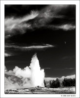 Old Faithful and Moon, Yellowstone National Park, 2006